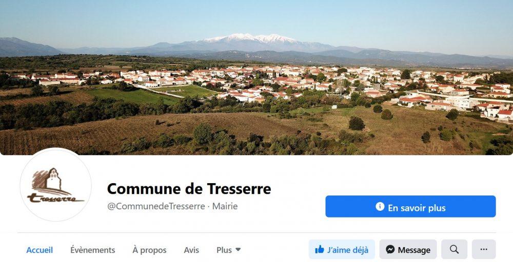 Capture d'écran de la page Facebook de la commune de Tresserre (66300)