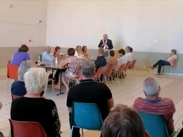 Installation et discours du maire de Tresserre