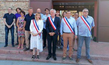 Michel THIRIET, nouveau maire, ses adjoints et les conseillers municipaux