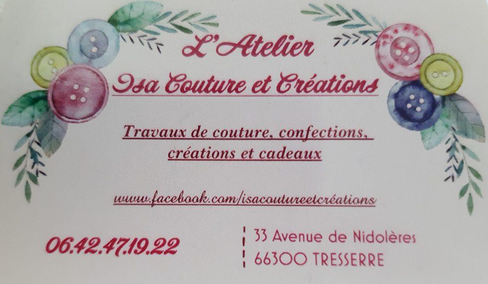 Isa Couture et Créations. Carte de visite