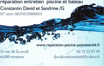 Réparation entretien piscine et bateau. Constantin David et Goya Sandrine