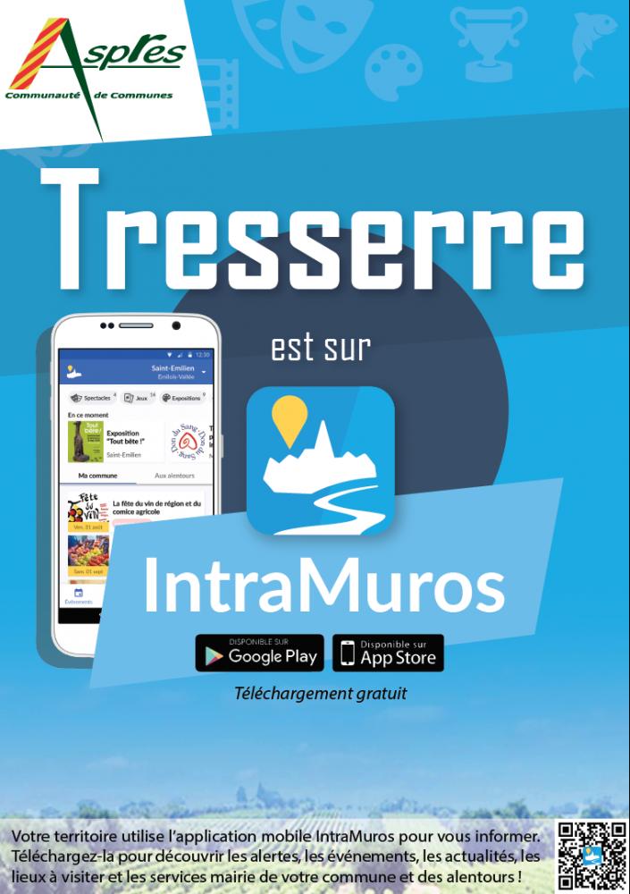 Tresserre est sur IntraMuros. Application mobile.