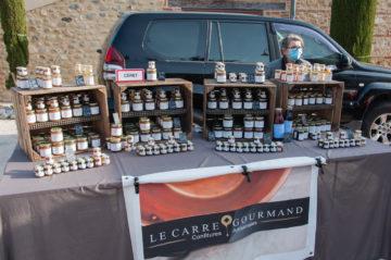 Confitures et confits Le carré Gourmand au marché de Tresserre