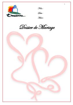 Dossier de mariage Tresserre