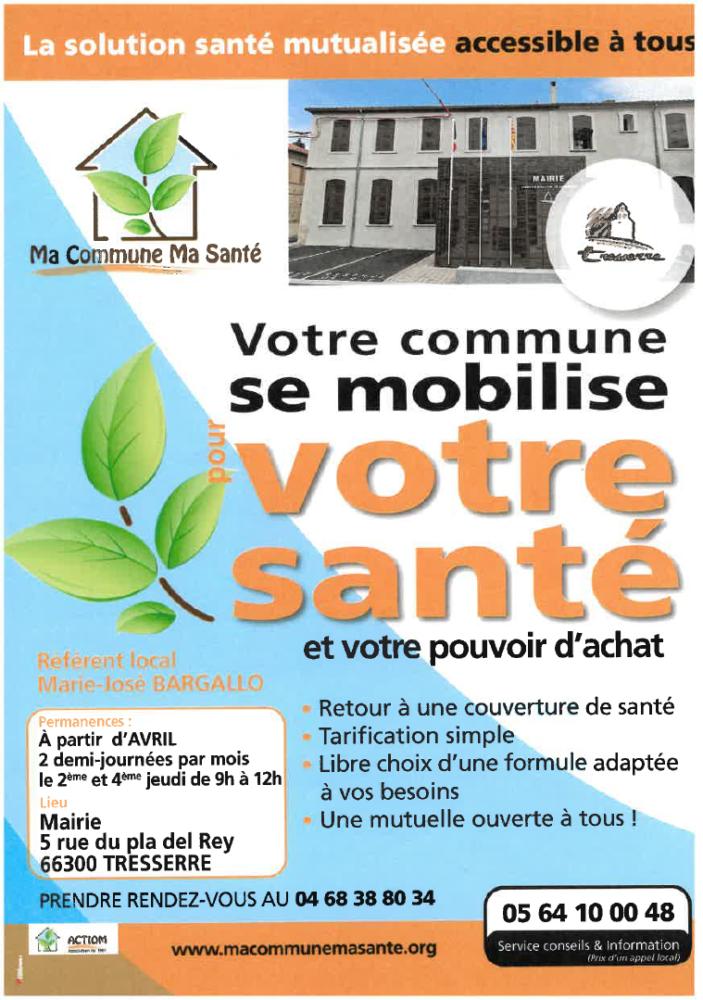 Flyer Ma Commune Ma Santé - Tresserre
