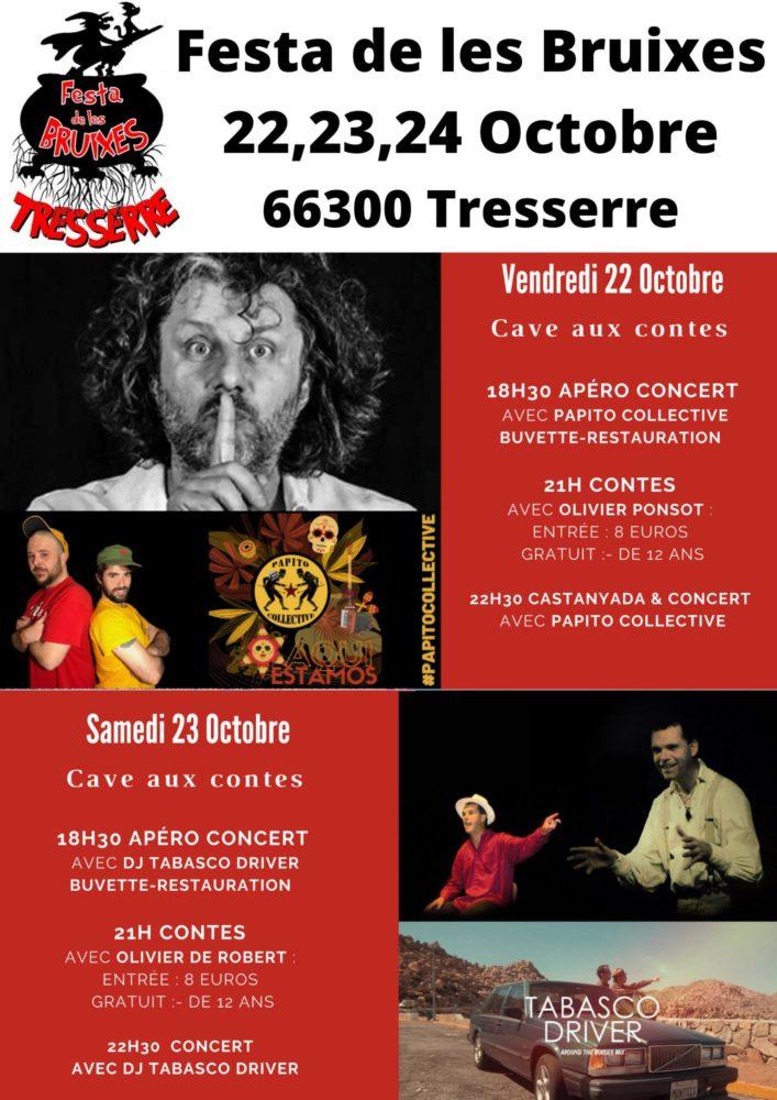Festa de les Bruixes de Tresserre _ programme vendredi 22 et samedi 23 octobre 2021